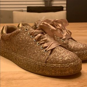 Rose Gold Glitter Sneakers - Call it spring!
